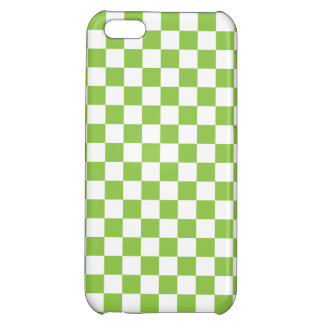 Yellow Green Checkerboard Pattern iPhone 5C Cases