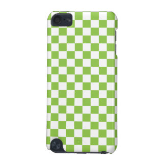 Yellow Green Checkerboard Pattern iPod Touch 5G Cases