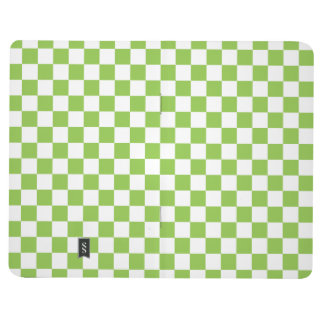 Yellow Green Checkerboard Pattern Journal