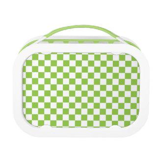 Yellow Green Checkerboard Pattern Lunch Box