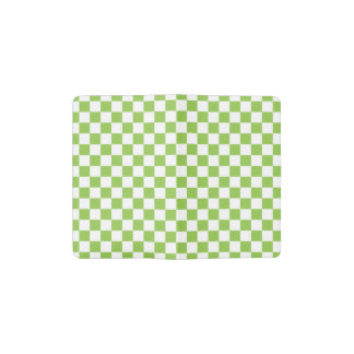 Yellow Green Checkerboard Pattern Pocket Moleskine Notebook