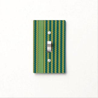 Yellow-Green Chevron Design - Light Switch Cover