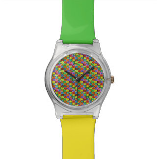 Yellow Green Dots Wristwatches
