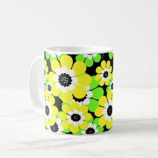 Yellow green flowers coffee mug
