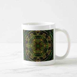 Yellow Green Fractal Classic White Coffee Mug