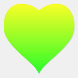 Yellow Green Gradient Heart Sticker
