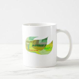 yellow green leaves coffee mug