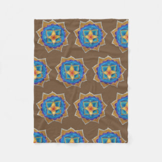 Yellow Green Mandala Fleece Blanket