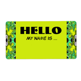 yellow green  name badge