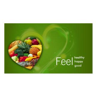 Yellow Green Nutritionist Fruit Heart Card Business Card