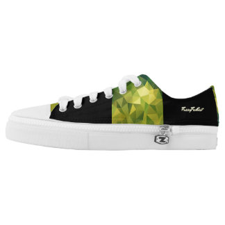 Yellow green pattern Low-Top sneakers