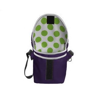 Yellow Green Polka Dots Courier Bags