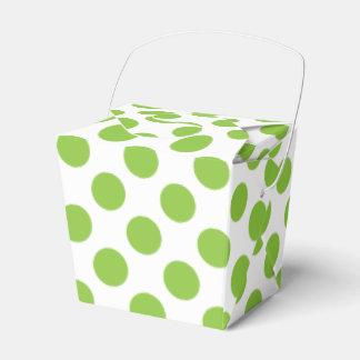 Yellow Green Polka Dots Favor Box
