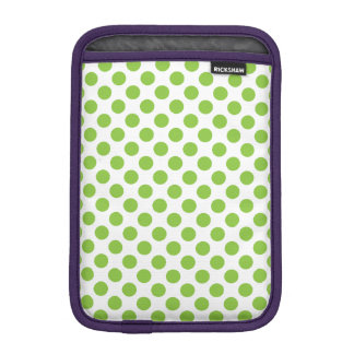 Yellow Green Polka Dots iPad Mini Sleeve