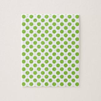 Yellow Green Polka Dots Jigsaw Puzzle