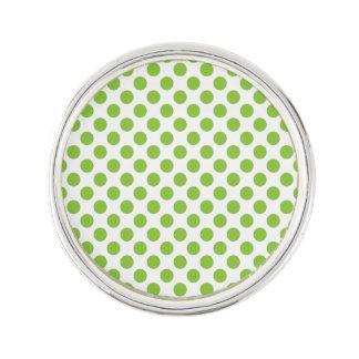Yellow Green Polka Dots Lapel Pin