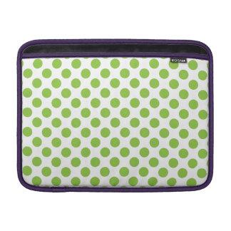 Yellow Green Polka Dots MacBook Sleeve