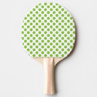 Yellow Green Polka Dots Ping Pong Paddle