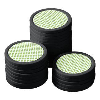 Yellow Green Polka Dots Poker Chips