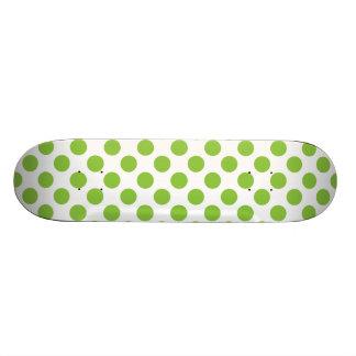Yellow Green Polka Dots Skate Board Deck