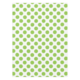 Yellow Green Polka Dots Tablecloth