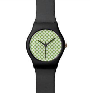 Yellow Green Polka Dots Watch
