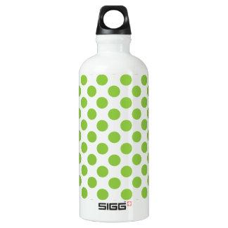 Yellow Green Polka Dots Water Bottle