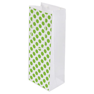 Yellow Green Polka Dots Wine Gift Bag