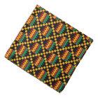 Yellow, Green, Red, Black African Kente Cloth Bandana