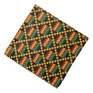 Yellow, Green, Red, Black African Kente Cloth Head Kerchiefs