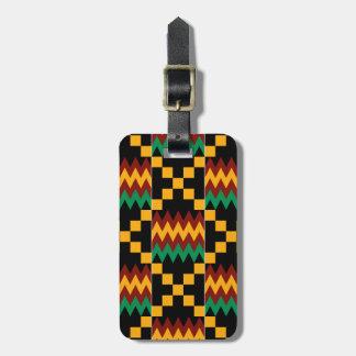 Yellow, Green, Red, Black Kente Cloth Luggage Tag