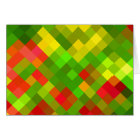 Yellow Green Red Patterns Geometric Designs Colour Card