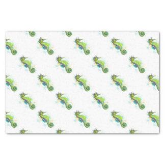 Yellow Green Seahorse splash Tissue Paper