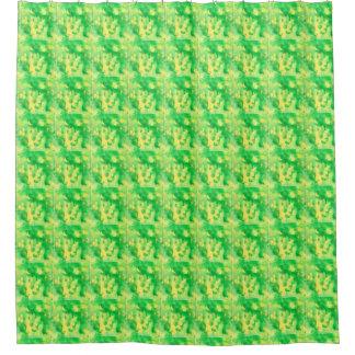 Yellow Green Shower Curtain