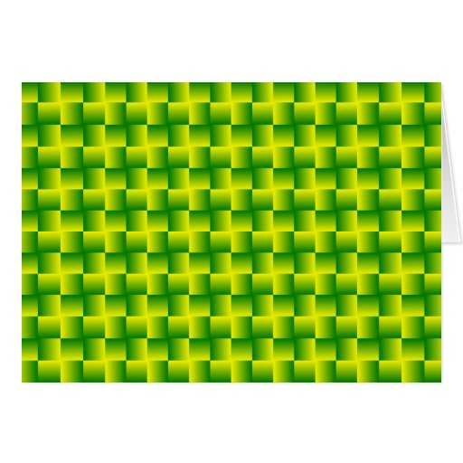 Yellow-green squares card