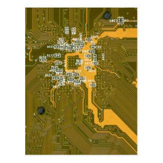 Yellow-green tech postcard