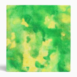 Yellow Green Watercolor 1.5'' Binder