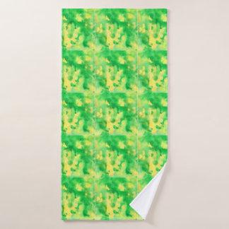 Yellow Green Watercolor Bath Towel