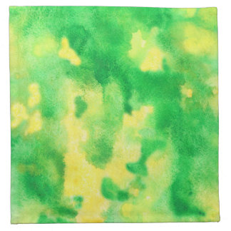 Yellow Green Watercolor Cocktail Cloth Napkins