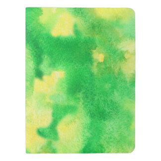 Yellow Green Watercolor Extra Large Notebook