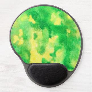 Yellow Green Watercolor Gel Mousepad