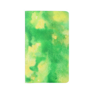 Yellow Green Watercolor Large Notebook