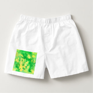 Yellow Green Watercolor Men's Boxers