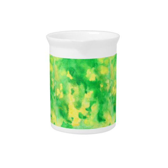 Yellow Green Watercolor Pitcher