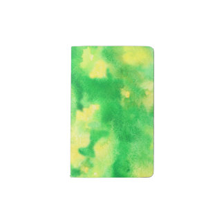 Yellow Green Watercolor Pocket Notebook