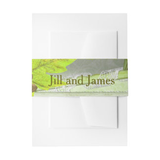 Yellow Green Wedding Invitation Belly Band