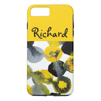Yellow, Grey and Black Intertactions iPhone 7 Plus Case