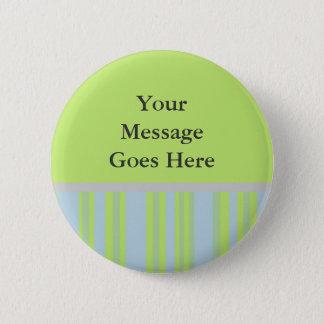 yellow grey blue stripes 2 inch round button