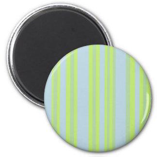 yellow grey blue stripes magnet