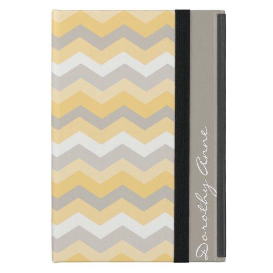 Yellow/Grey Chevron iPad Mini Cover